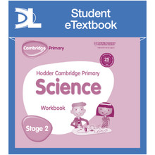 Hodder Cambridge Primary Science Work Book 2 Student e-Textbook - ISBN 9781398316027
