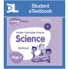 Hodder Cambridge Primary Science Work Book 3 Student e-Textbook - ISBN 9781398316034