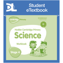 Hodder Cambridge Primary Science Work Book 4 Student e-Textbook - ISBN 9781398316041