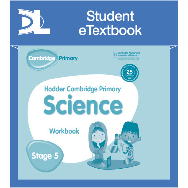Hodder Cambridge Primary Science Work Book 5 Student e-Textbook - ISBN 9781398316058