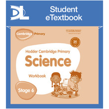 Hodder Cambridge Primary Science Work Book 6 Student e-Textbook - ISBN 9781398316065