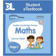 Hodder Cambridge Primary Maths Learner's Book 1 Student e-Textbook - ISBN 9781398315839