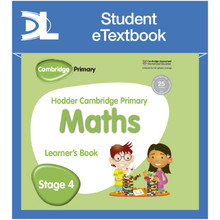 Hodder Cambridge Primary Maths Learner's Book 4 Student e-Textbook - ISBN 9781398315860
