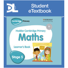 Hodder Cambridge Primary Maths Learner's Book 5 Student e-Textbook - ISBN 9781398315877