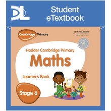 Hodder Cambridge Primary Maths Learner's Book 6 Student e-Textbook - ISBN 9781398315884