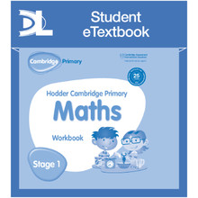 Hodder Cambridge Primary Maths Workbook 1 Student e-Textbook - ISBN 9781398315891