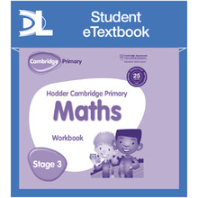 Hodder Cambridge Primary Maths Workbook 3 Student e-Textbook - ISBN 9781398315914