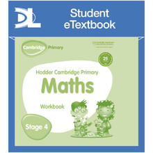 Hodder Cambridge Primary Maths Workbook 4 Student e-Textbook - ISBN 9781398315921