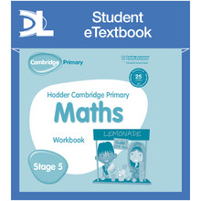 Hodder Cambridge Primary Maths Workbook 5 Student e-Textbook - ISBN 9781398315938