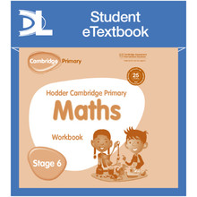 Hodder Cambridge Primary Maths Workbook 6 Student e-Textbook - ISBN 9781398315945
