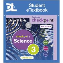Hodder Cambridge Checkpoint Science Workbook 3 Student e-Textbook - ISBN 9781398315723
