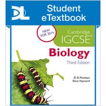 Hodder Cambridge IGCSE Biology 3rd Edition Student e-Textbook - ISBN 9781471840517
