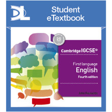 Hodder Cambridge IGCSE First Language English 4th edition Student Etextbook - ISBN 9781510420281