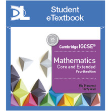 Hodder Cambridge IGCSE Mathematics Core and Extended 4th edition Student Etextbook - ISBN 9781510420649