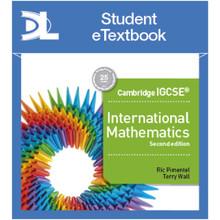 Hodder Cambridge IGCSE International Mathematics 2nd edition Student Etextbook - ISBN 9781510420489