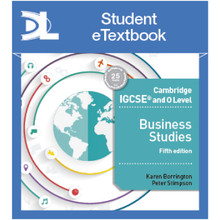 Hodder Cambridge IGCSE and O Level Business 5th Edition Student eTextbook - ISBN 9781510420106