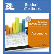 Hodder Cambridge IGCSE and O Level Accounting Student eTextbook - ISBN 9781510420021