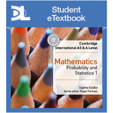 Hodder Cambridge International AS & A Level Mathematics Probability and Statistics 1 Student Etextbook - ISBN 9781510421066