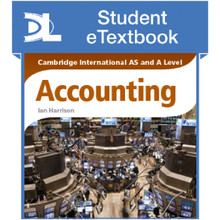 Hodder Cambridge International AS and A Level Accounting Student eTextbook - ISBN 9781471840463