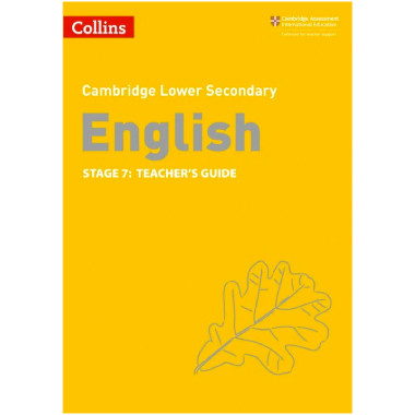 Collins Cambridge Lower Secondary English Teacher's Guide Stage 7 - ISBN 9780008364090