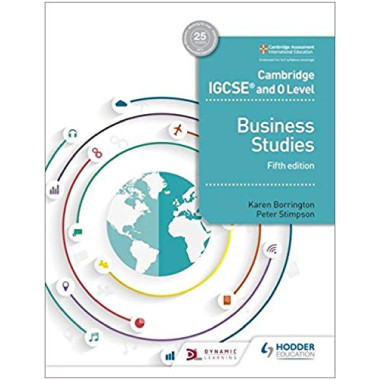 Hodder Cambridge IGCSE and O Level Business Studies Student Book (5th Edition) - ISBN 9781510421233
