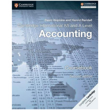 Cambridge International AS & A Level Accounting Second Edition Coursebook - ISBN 9781316611227