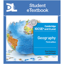 Hodder Cambridge IGCSE and O Level Geography Revised 3rd Edition Student Etextbook - ISBN 9781510420359