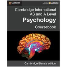 Cambridge International AS & A Level Psychology Cambridge Elevate Enhanced Edition (2 years) - ISBN 9781316605714