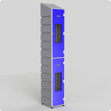 2 Tier Mesh Locker with slanted top
