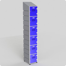 6 Tier Locker with slanted top