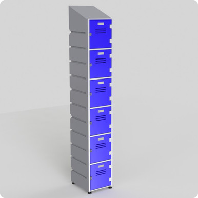 6 Tier Locker with slanted top