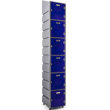 6-Tier Plastic Locker with Flat or Slanted Top Option