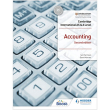 Hodder Cambridge International AS and A Level Accounting 2nd Edition - ISBN 9781398317536