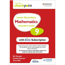 Hodder Cambridge Checkpoint Lower Secondary Mathematics Teacher's Guide 9 with Boost Subscription Booklet - ISBN 9781398300743