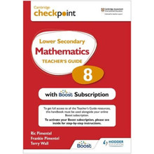 Hodder Cambridge Checkpoint Lower Secondary Mathematics Teacher's Guide 8 - ISBN 9781398300736