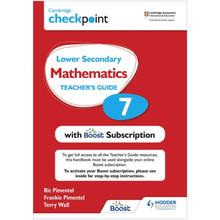 Hodder Cambridge Checkpoint Lower Secondary Mathematics Teacher's Guide 7 - ISBN 9781398300729