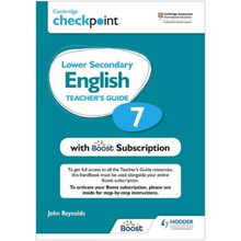 Hodder Cambridge Checkpoint Lower Secondary English Teacher's Guide 7 with Boost Subscription - ISBN 9781398300668