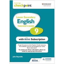 Hodder Cambridge Checkpoint Lower Secondary English Teacher's Guide 9 with Boost Subscription - ISBN 9781398300682