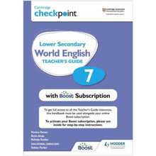 Hodder Cambridge Checkpoint Lower Secondary World English Teacher's Guide 7 with Boost Subscription - ISBN 9781398307698