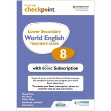 Hodder Cambridge Checkpoint Lower Secondary World English Teacher's Guide 8 with Boost Subscription - ISBN 9781398307704