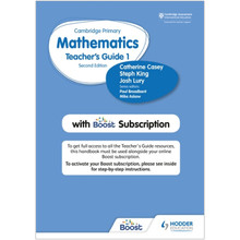 Hodder Cambridge Primary Mathematics Teacher's Guide Stage 1 with Boost Subscription - ISBN 9781398300781