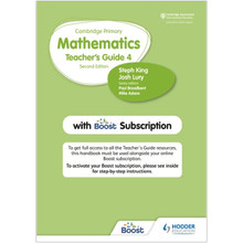 Hodder Cambridge Primary Mathematics Teacher's Guide Stage 4 with Boost Subscription - ISBN 9781398300811