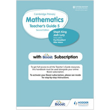 Hodder Cambridge Primary Mathematics Teacher's Guide Stage 5 with Boost Subscription - ISBN 9781398300828