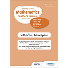Hodder Cambridge Primary Mathematics Teacher's Guide Stage 6 with Boost Subscription - ISBN 9781398300835