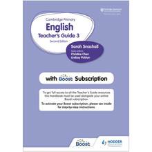 Hodder Cambridge Primary English Teacher's Guide Stage 3 with Boost Subscription - ISBN 9781398300552