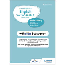 Hodder Cambridge Primary English Teacher's Guide Stage 5 with Boost Subscription - ISBN 9781398300576