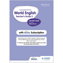 Hodder Cambridge Primary World English Teacher's Guide 3 with Boost Subscription - ISBN 9781510468122