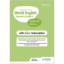 Hodder Cambridge Primary World English Teacher's Guide 4 with Boost Subscription - ISBN 9781510468146