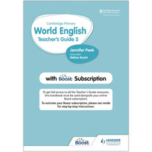 Hodder Cambridge Primary World English Teacher's Guide 5 with Boost Subscription - ISBN 9781510468153