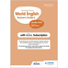 Hodder Cambridge Primary World English Teacher's Guide 6 with Boost Subscription - ISBN 9781510468160